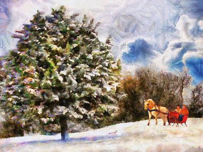 Painting - Sleigh Ride by Jai Johnson