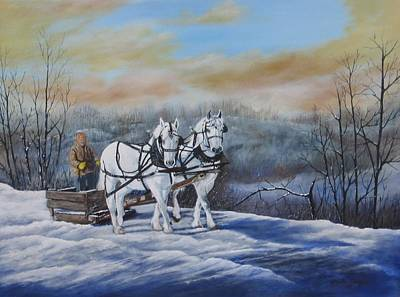Sleigh Ride Art Print by Sheila Banga
