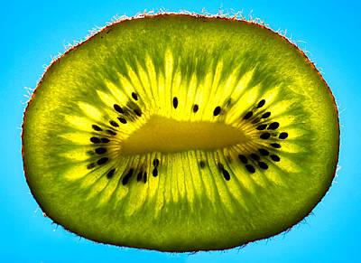 Slice Of Divine Green Kiwi Fruit Art Print