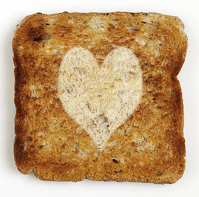 Y120817 Photograph - Slice Of Toast With Heart Shape by Atli Mar Hafsteinsson