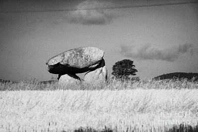Slidderyford Or Wateresk Dolmen Situated In The Middle Of A Field Of Barley In County Down Northern  Art Print by Joe Fox