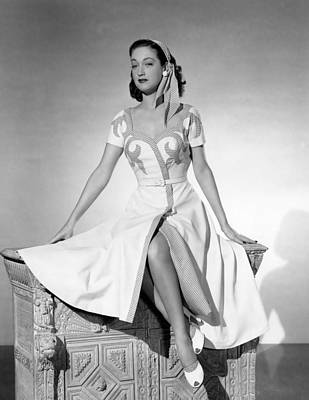 1949 Movies Photograph - Slightly French, Dorothy Lamour, 1949 by Everett