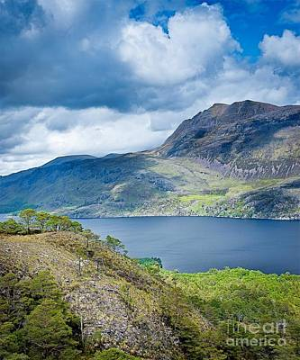 Caledonian Photograph - Slioch Above Loch Marree by Maciej Markiewicz