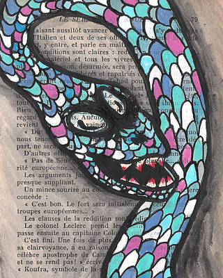 Snake Scales Painting - Slithering Snake by Jera Sky