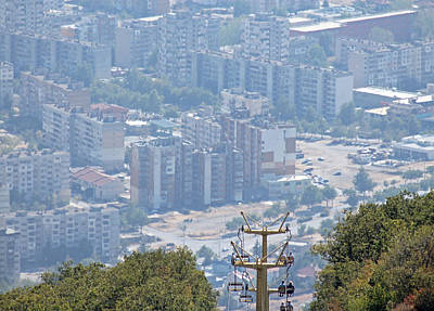 Photograph - Sliven Bulgaria From Chair Lift by Tony Murtagh