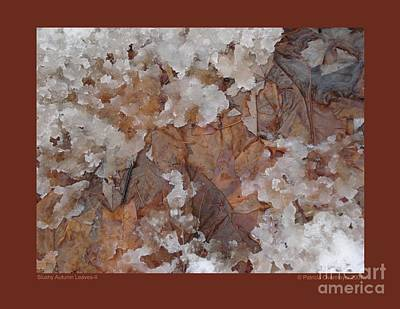 Art Print featuring the photograph Slushy Autumn Leaves-ii by Patricia Overmoyer