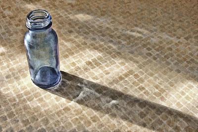Small Blue Bottle Art Print