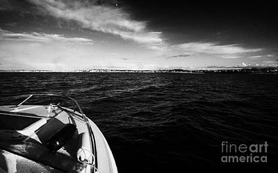 Small Boat Approaching Bangor From Belfast Lough County Down Northern Ireland Art Print by Joe Fox