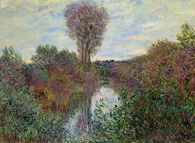 Small Branch Of The Seine Art Print by Claude Monet