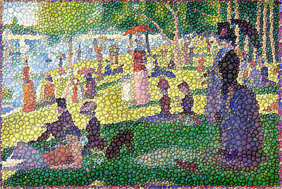 Small Bubbly Sunday On La Grande Jatte Art Print by Mark Einhorn