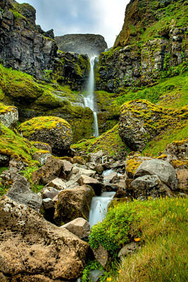 Photograph - Small Icelandic Waterfall by Anthony Doudt