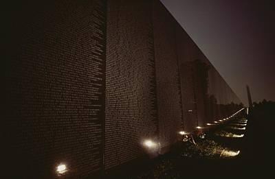 War Monuments And Shrines Photograph - Small Lights Illuminate The Path by Karen Kasmauski