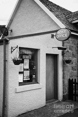 Postoffice Photograph - small local rural part time post office in Glencoe highlands scotland uk by Joe Fox