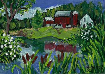Bucolic Scenes Drawing - Small Original Painting#2 by Patty Fleckenstein