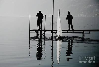 Small Sailing Boat Art Print by Mats Silvan