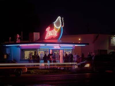 Photograph - Small Town Saturday Night by HW Kateley