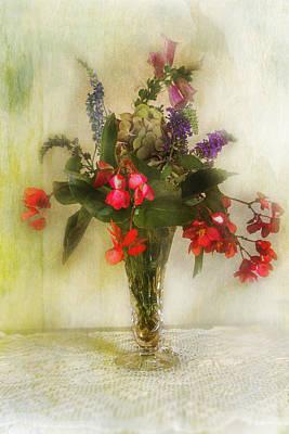 Small Vase Of Flowers Art Print by John Rivera