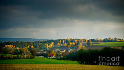 Photograph - Small Village In Autumn by Ari Salmela