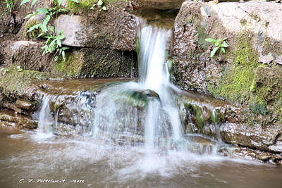 Small Waterfall Art Print by Carolyn Postelwait