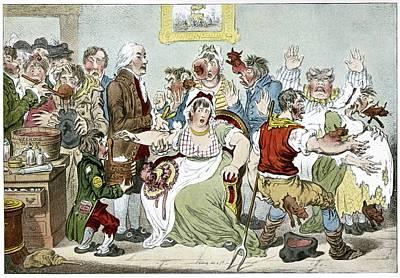 Smallpox Vaccination, Satirical Artwork Art Print by