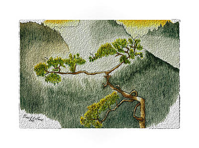 Lookout Mountain Drawing - Smell Of Sunrise by Frank Williams