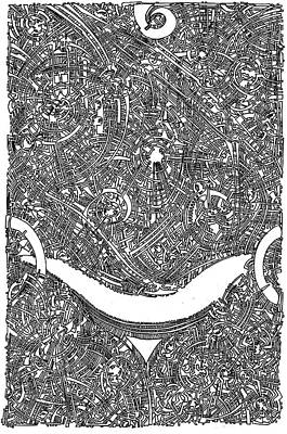 Filigree Drawing - Smile by Power City Images