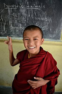 Smiley Monk Art Print