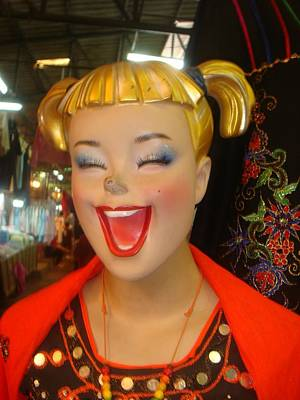 Photograph - Smiling Blonde Dummy by Mr Photojimsf
