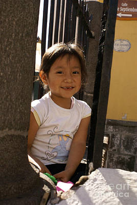 Photograph - Smiling Puebla Girl Mexico by John  Mitchell