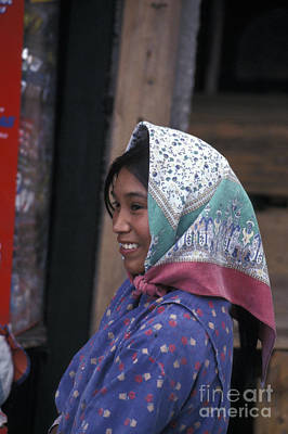 Photograph - Smiling Tarhumara Girl Copper Canyon Mexico by John  Mitchell