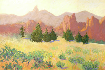 Pastel - Smith Rock by Janet Biondi