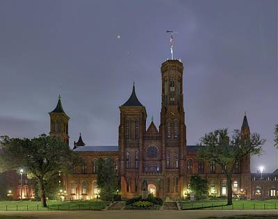 Brick Photograph - Smithsonian Castle by Metro DC Photography