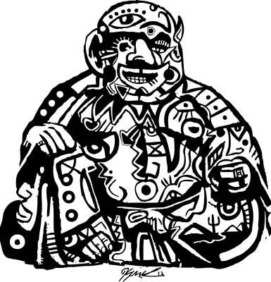 Blackart Digital Art - Smoke Buddah by Kamoni Khem
