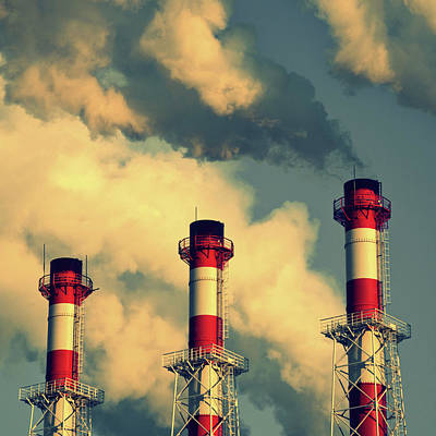 Smoke Coming From Big Chimneys, Moscow Art Print by Fedor Vilner