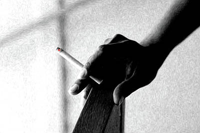 Smoke Art Print by Dax Ian