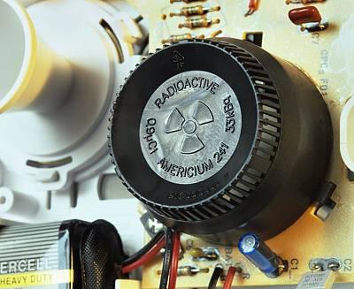 Smoke Detector Radiation Source Art Print by Martin Bond