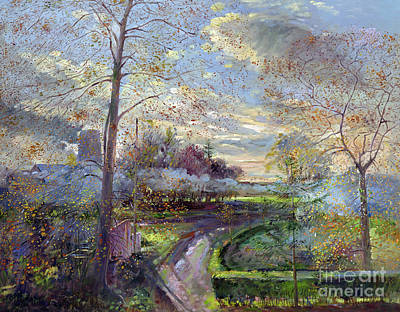 Smoke Drift - Autumn Art Print by Timothy Easton