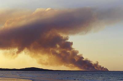 Bushfire Photograph - Smoke From A Wildfire Billows by Jason Edwards