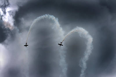Contrail Photograph - Smoke Signals by Betsy Knapp