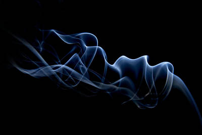 Smoke Trail Print by Dagmar Woltereck