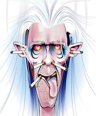 Digital Art - Smoked by Brian Gibbs