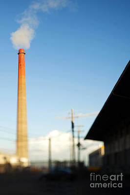 Dogpatch Photograph - Smokestack And Factory by Eddy Joaquim
