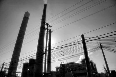 Black Commerce Photograph - Smokestacks by Steven Ainsworth