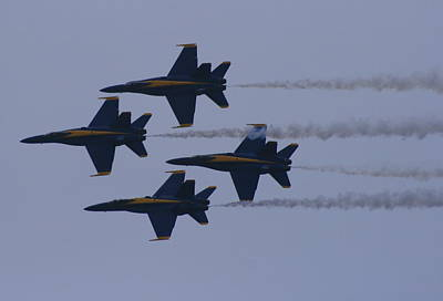 Photograph - Smokin' Blue Angels  by Christopher Kirby