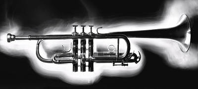 Realism Photograph - Smokin' Trumpet by Glennis Siverson