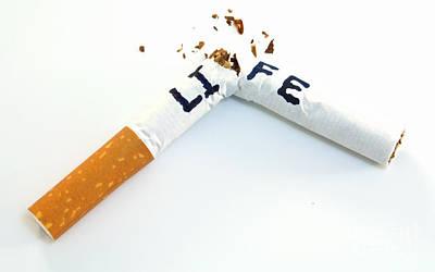 Smoking Shortens Life Art Print