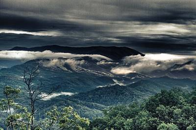 Smoky Mountain Clouds    Art Print by Glenn Lawrence