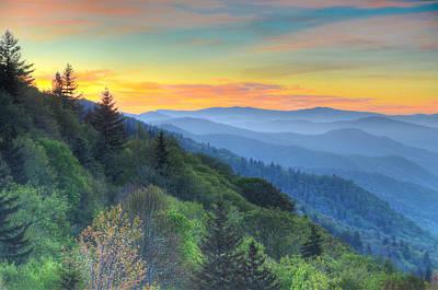 Smoky Mountain Morning Splendor Art Print by Mary Anne Baker