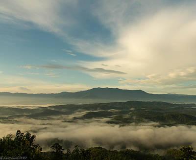 Smoky Mountain Rise   Art Print by Glenn Lawrence