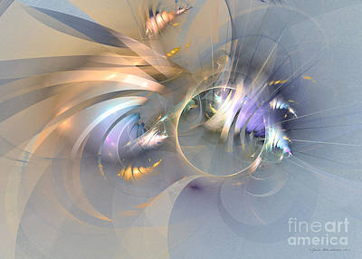 Digital Art - Smooth Ambience - Fractal Art by Sipo Liimatainen